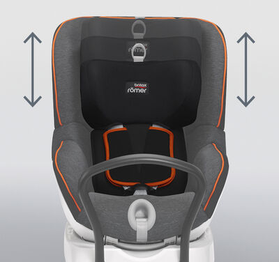 Feature CS HeadrestHarnessAfter - Britax Römer DUALFIX M i-Size obrotowy fotelik samochodowy kolor Moonlight Blue