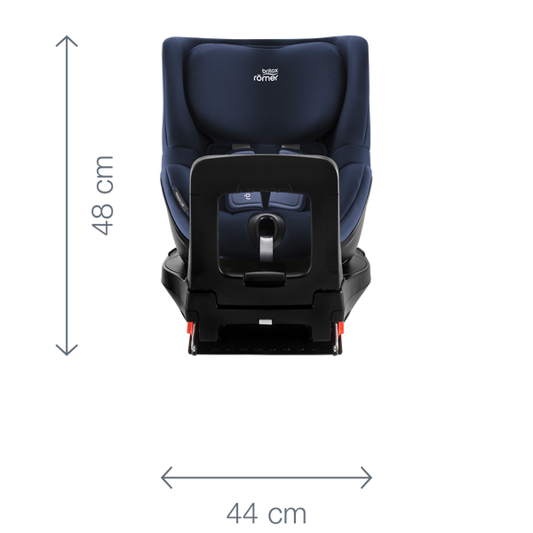 DUALFIX M i SIZE Dimension Images 2000x2000 Angle 03 - Britax Römer DUALFIX M i-Size obrotowy fotelik samochodowy kolor Cool Flow - Black